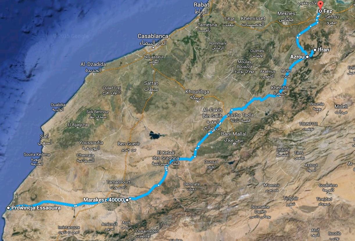 afryka maroko mapa