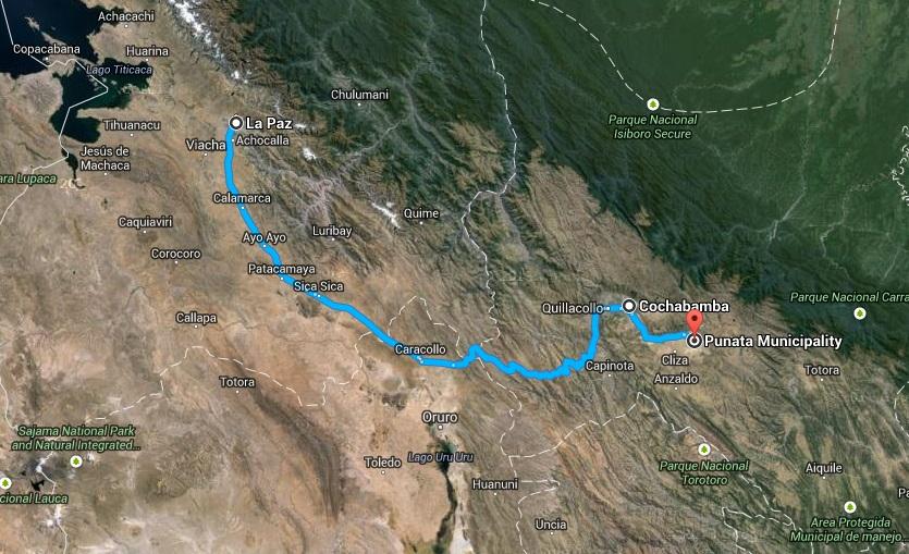 boliwia karnawal mapa