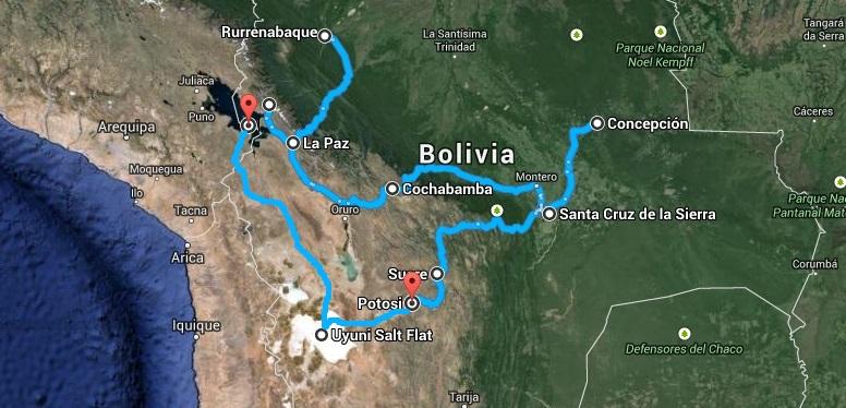 Relacja z podróży do boliwii