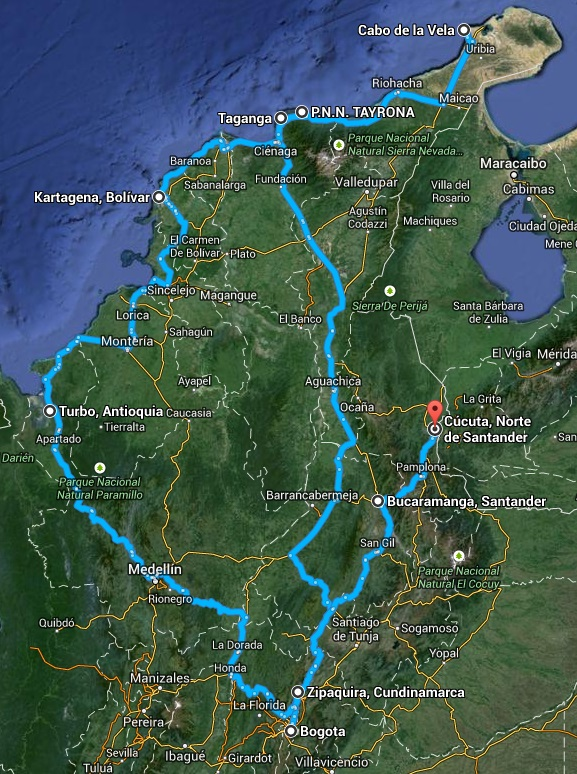 Relacja z podróży do kolumbi