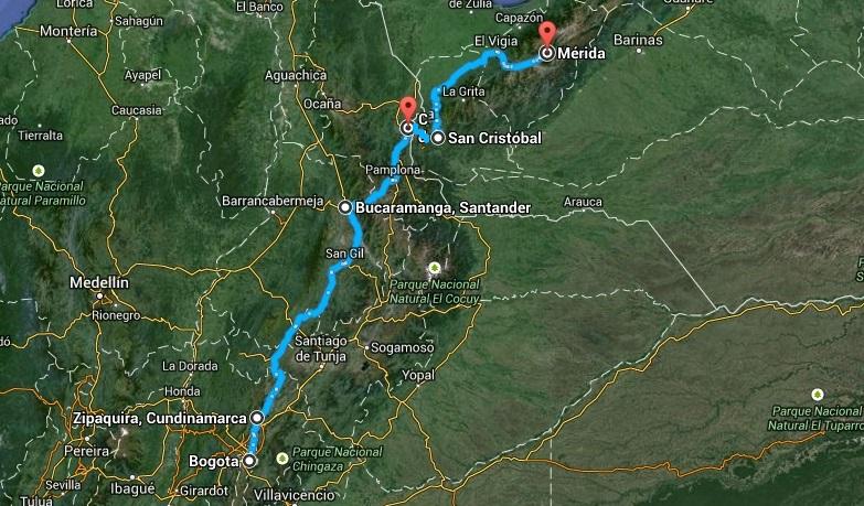 kolumbia mapa