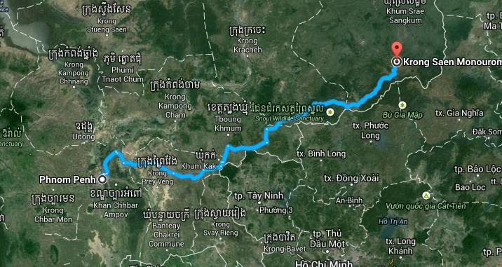 kambodza mapa